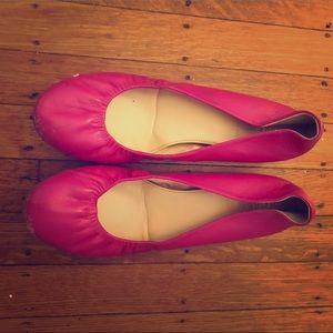 Leather JCrew ballet flats